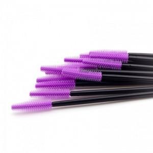 Щеточки силиконовые фиолетовые с черной палочкой