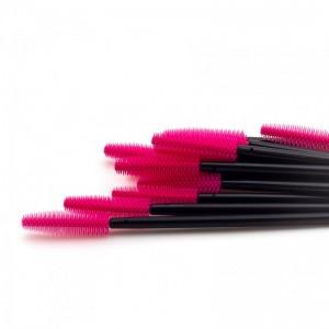 Щеточки силиконовые розовые с черной палочкой