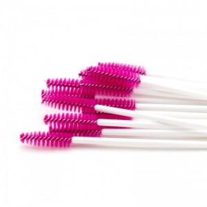 Щёточки нейлоновые темно-розовая с палочкой