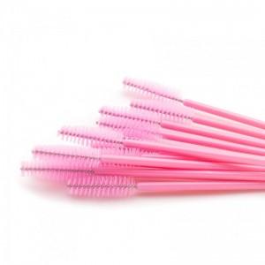 Щёточки нейлоновые розовые с палочкой