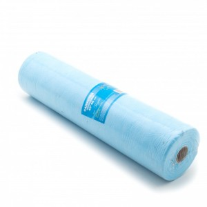Салфетка одноразовая 40*40 голубая в рулоне (200шт)
