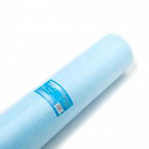 Простыня одноразовая 70*200 голубая в рулоне (100шт)