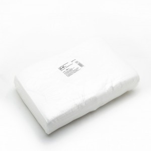 Салфетка одноразовая 30*40 спанлейс белый White line №100шт пачка
